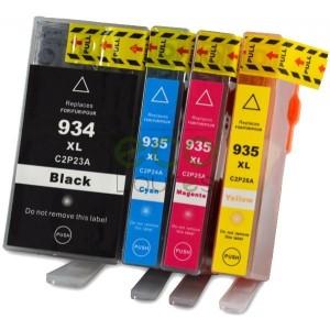 HP nº934+nº935 - Pack de 4 Tinteiros Genéricos