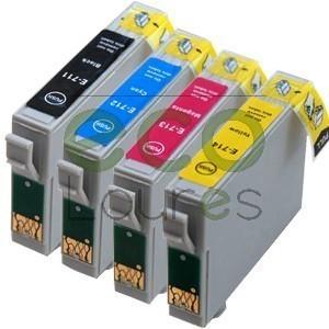 Epson T071x - Pack de 4 Tinteiros Genéricos