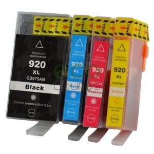 HP nº920XL - Pack de 4 Tinteiros Genéricos