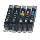 Canon PGI5 + CLI8 - Pack de 5 Tinteiros Genéricos